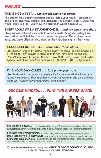 Picture of The Career Game Workbook